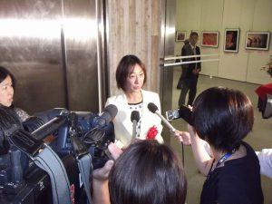 県知事選について、地元メディアから取材を受けました。