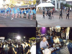 三条夏祭り。総踊りも夜店市も多く人出がありました。