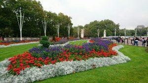 至るところに美しい花畑や造園が整備されています。