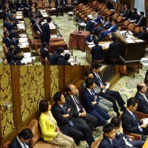 午前中、衆議院予算委員会集中審議。同僚議員の応援に駆けつけました。