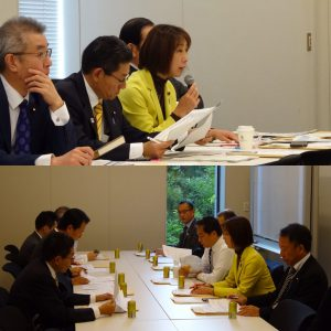 党文部科学部門会議役員会、引き続き部門会議が開かれました。