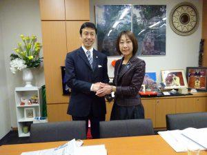 新潟県知事選で当選された米山さんが挨拶に来られました。