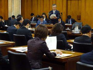 災害対策特別委員会。松本防災担当大臣から所信の挨拶を伺いました。
