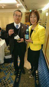 越乃寒梅の蔵元、石本酒造の取締役杜氏、竹内さんです。日本酒への想い、情熱が伝わってきました。