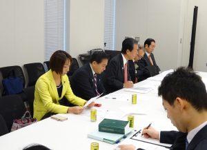 今朝は、文部科学部門会議役員会に出席。
