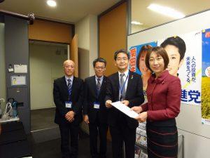 新潟県下の関係者から下水道事業促進の要望を承りました。