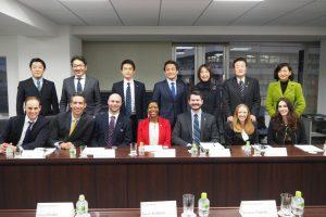 日米青年政治指導者交流プログラム訪日団との面談。
