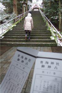 青海神社へ初詣に出かけました。