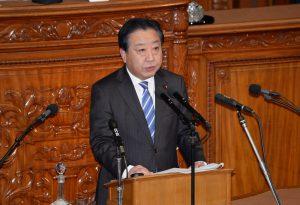 野田幹事長による代表質問。