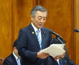 松本防災担当大臣の所信。