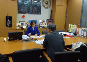 外務省から来年度予算案のヒアリングを受けました。