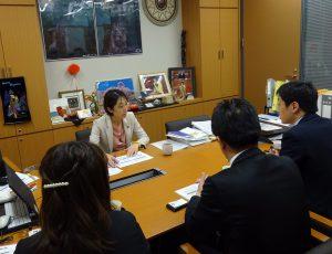 委員会質問に向け、文科省や外務省からヒアリングを受けました。