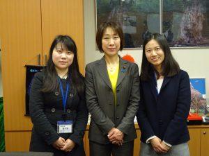 3/15(水)中国のネットメディアの記者さんから「女性政治家の活躍と役割」について取材を受けました。