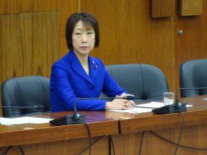 災害対策特別委員会。大臣所信に対する質疑。