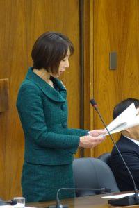 委員を代表して附帯決議案を朗読。