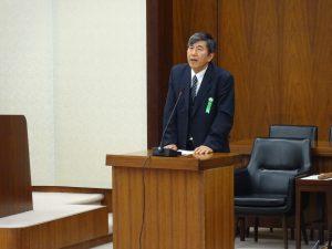参考人。文科省給付型奨学金制度検討チームのメンバーで東京大学教授の小林雅之さん。