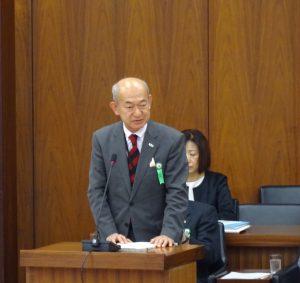 参考人。日本私立大学団体連合会事務局長 小出秀文氏。