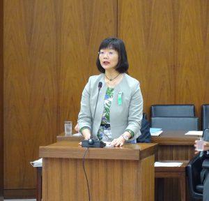 参考人。東京大学大学院教育学研究科 本田由紀氏。