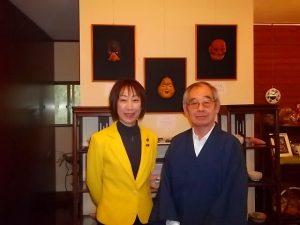 黒田亘一さんの能面作品展にお邪魔しました