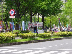 5/12(金)国会の外では、市民団体による共謀罪廃案集会が連日開かれています。