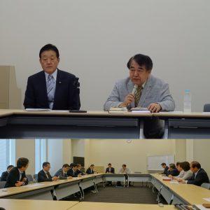 外務・防衛合同部門会議。講師は、日本総合研究所所長の寺島実郎氏。