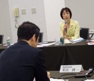 今朝は「新潟県の課題・政府に対する要望について国会議員への説明会」に出席。