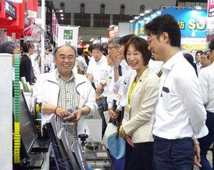 東京ビッグサイトで開催されている日本ものづくりワールドに伺い、県内出展企業を回りました。