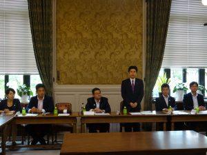 国対役員・筆頭理事合同会議。