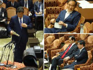 萩生田官房副長官、菅官房長官、松野文科大臣、山本地方創生担当相が出席。