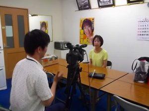 長島忠美代議士のご冥福をお祈りしつつ、地元テレビ局の取材を受けました